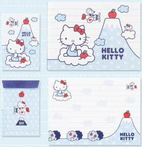 Hello Kitty Mt Fuji Letter Set