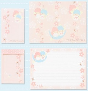 Little Twin Stars Sakura Letter Set
