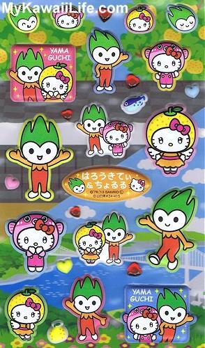 Yamaguchi Hello Kitty Stickers
