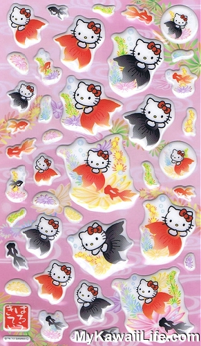 Fish Hello Kitty Stickers
