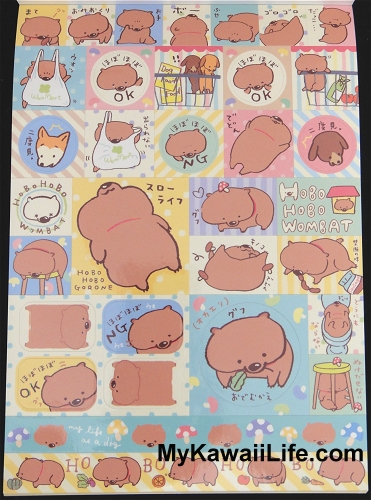 Hobo Hobo Wombat Stickers
