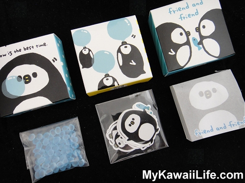 Q-lia Penguins Sticker & Memo Boxes