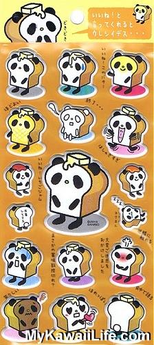 Sanrio Character Stickers - Panda Bread