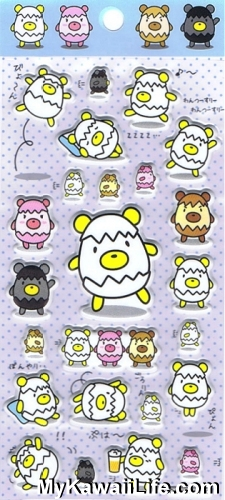 Sanrio Character Stickers - Egg Bears