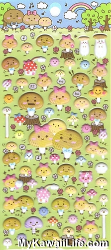 Sanrio Character Stickers - Mushroom Forest