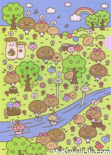 Sanrio Character Folder - Mushroom Forest