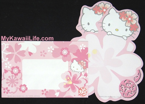 Hello Kitty Sakura Letter Set from Japan Die-Cut