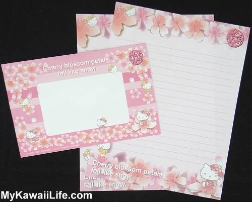 Hello Kitty Sakura Letter Set from Japan - Pink
