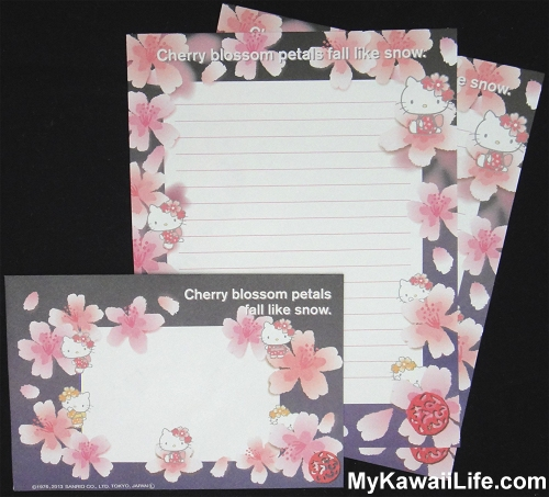 Hello Kitty Sakura Letter Set from Japan - Black