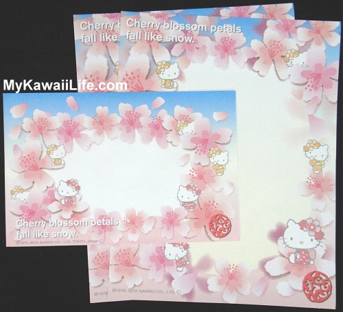 Hello Kitty Sakura Letter Set from Japan - Blue