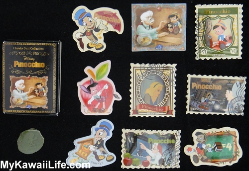 Disney Pinocchio Sticker Flakes Gachapon