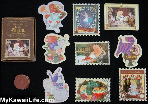 Disney Alice In Wonderland Sticker Flakes Gachapon