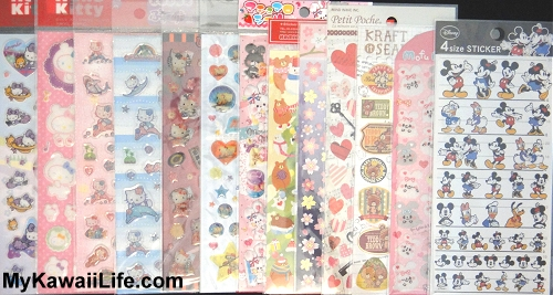 Kawaii Sticker Sheets Sneak Preview