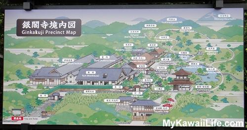 Ginkaku-ji Silver Pavilion Map