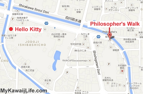Hello Kitty Koubou Map - The Cutest Hello Kitty Shop In Kyoto