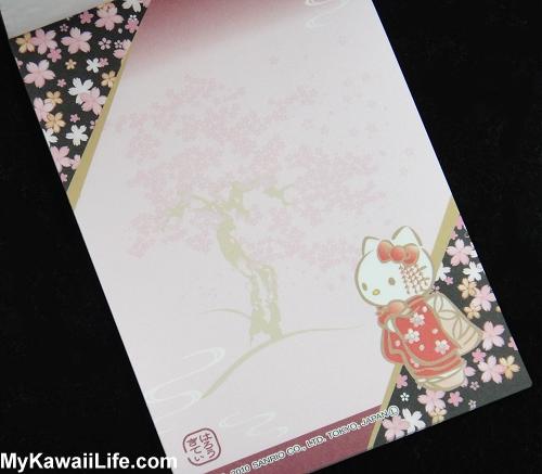 Hello Kitty Kimono Memo Pad - Sakura