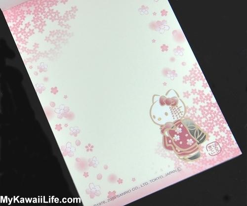 Hello Kitty Kimono Memo Pad - Cherry Blossoms