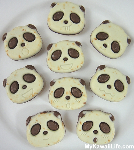 Plate Of Panda Cookies From Japan