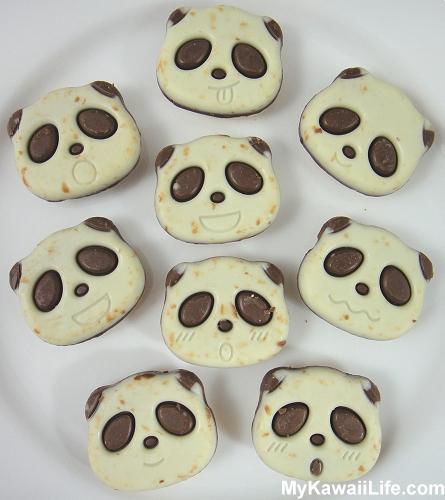 Plate Of Panda Cookies From Japan