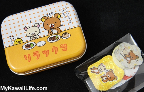 Rilakkuma Sticker Flakes Tin