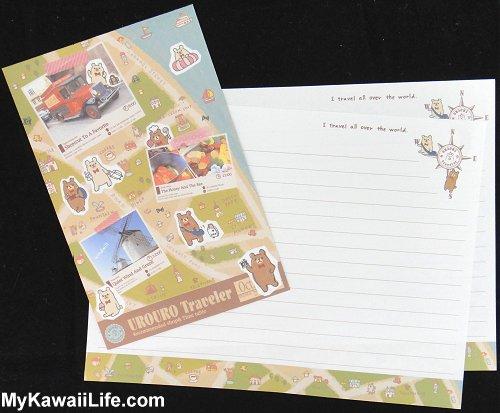 Urouro Traveler Letter Set Design 1