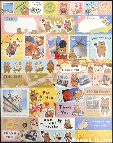 Urouro Traveler Letter Set Stickers